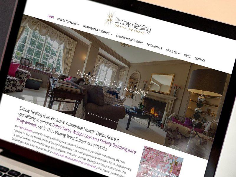 Simply Healing Website Design