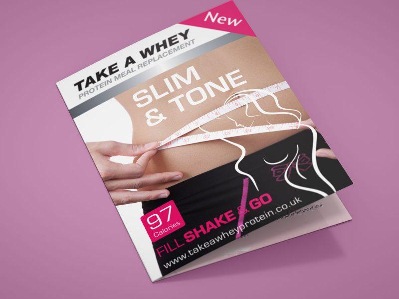 Take A Whey Leaflet Design