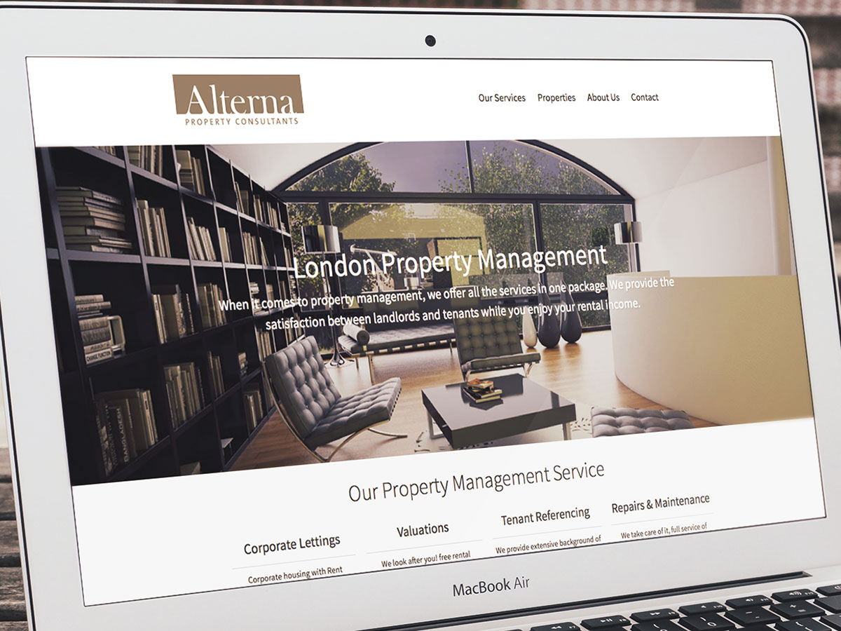 Alterna Property Consultants Website Design