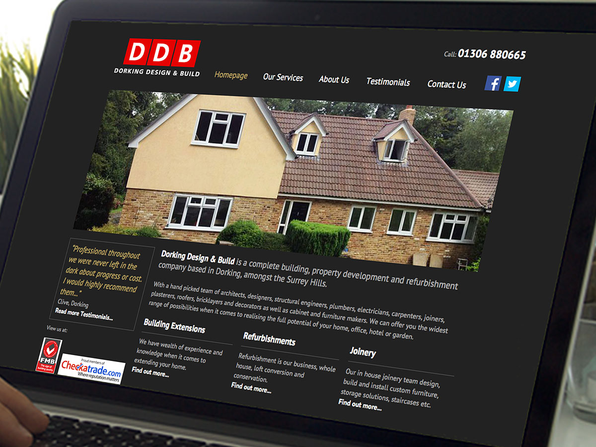 DDB Properties Website Design