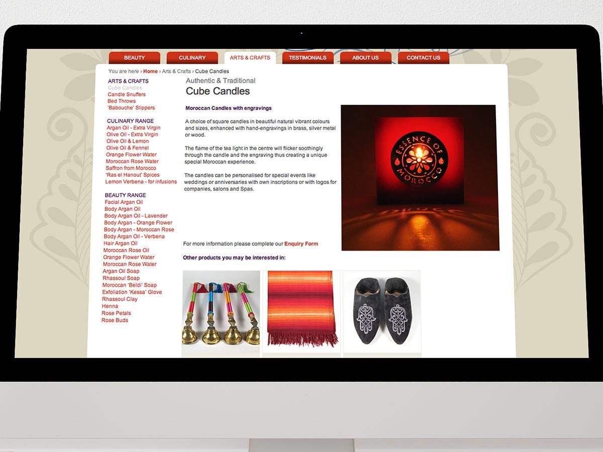 Essence of Morocco Website Design