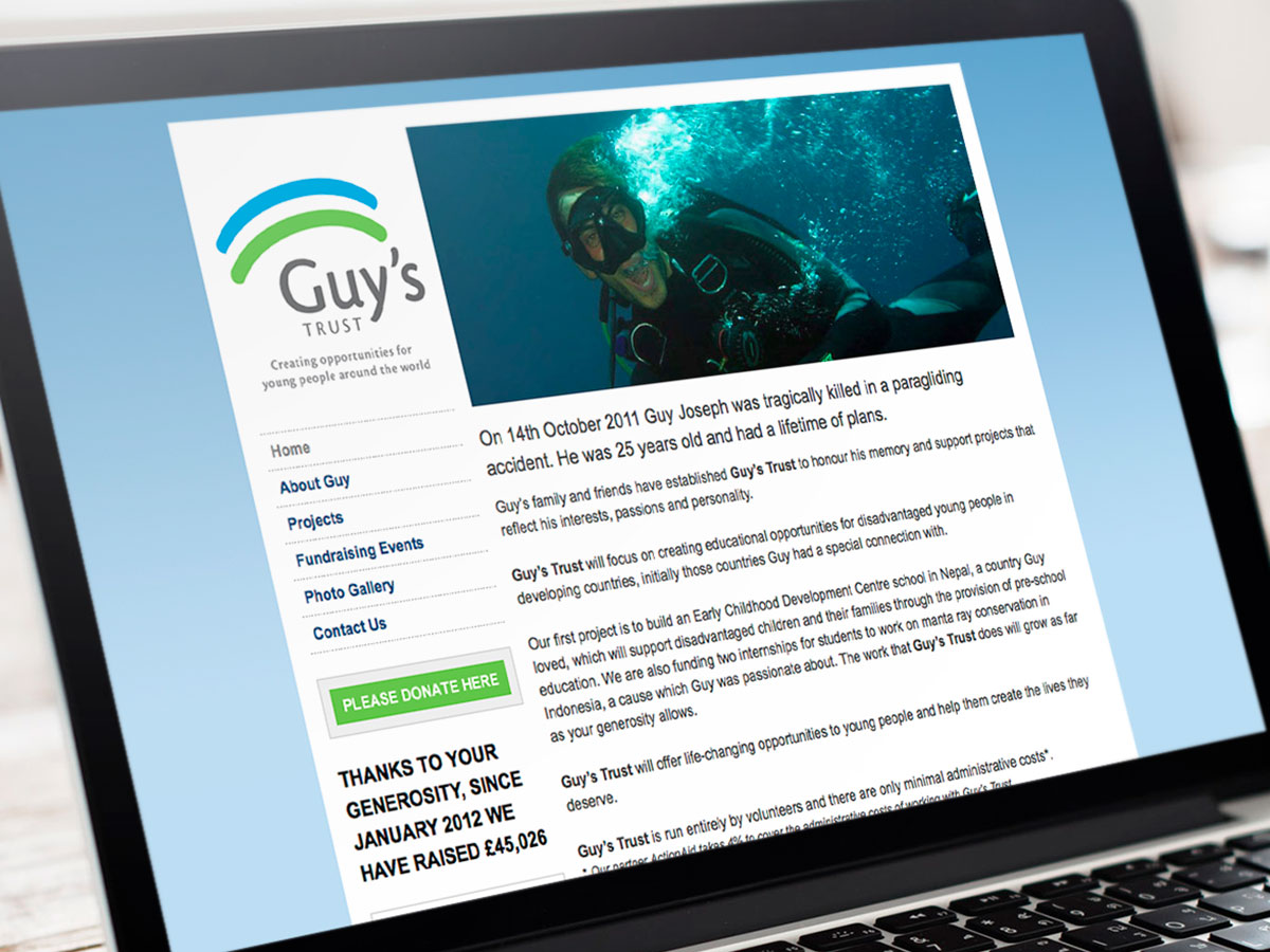 Guys Trust Website Design