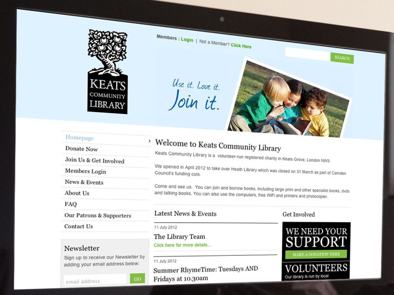 Keats Community Library Website Design
