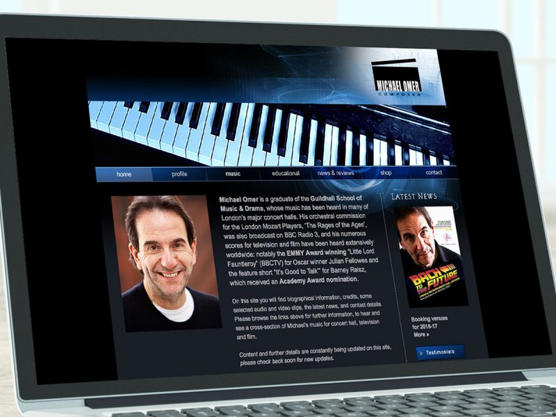 Michael Omer Website Design