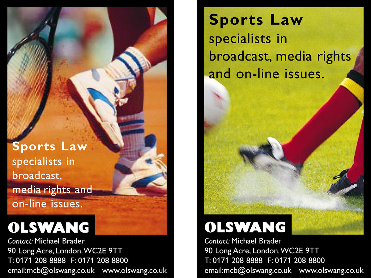 Olswang Advertising Design