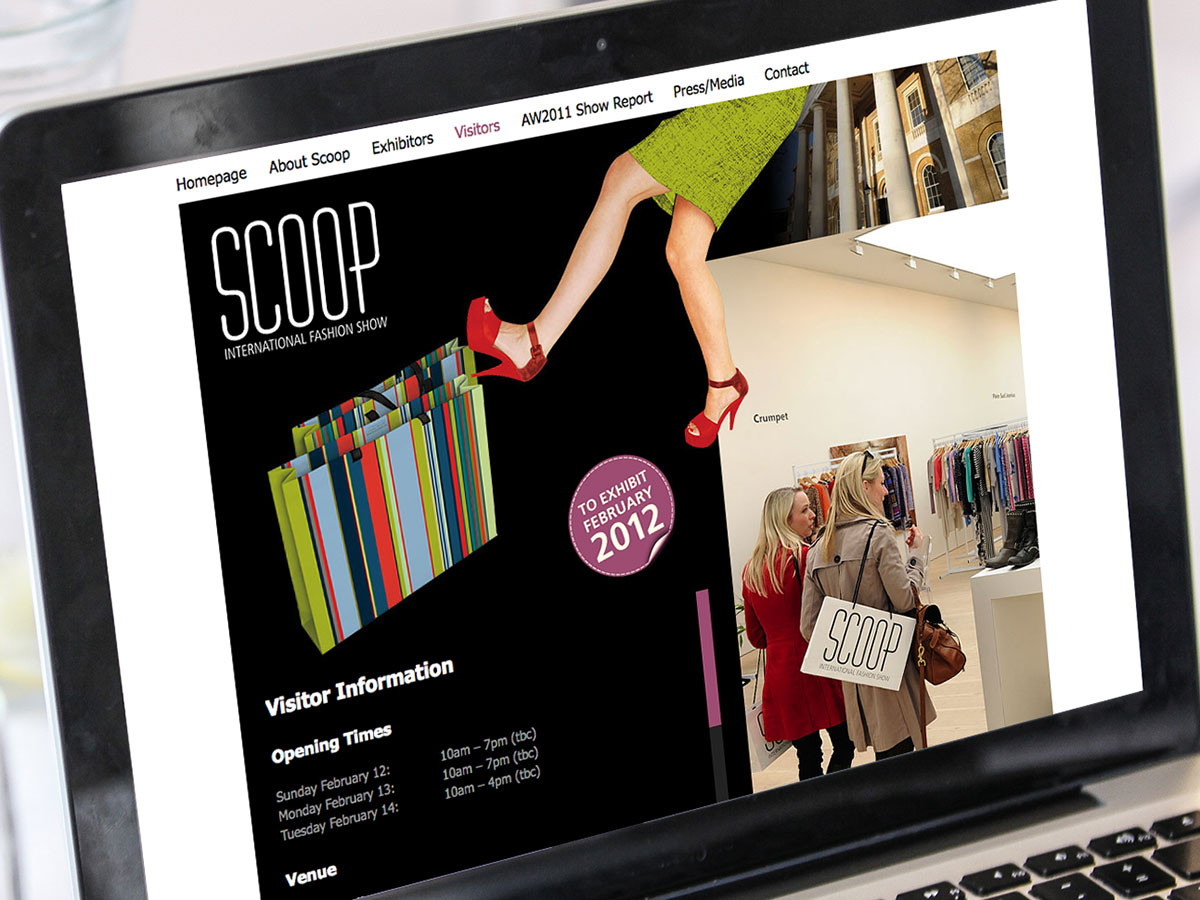 Scoop International Fashion Show Website Design
