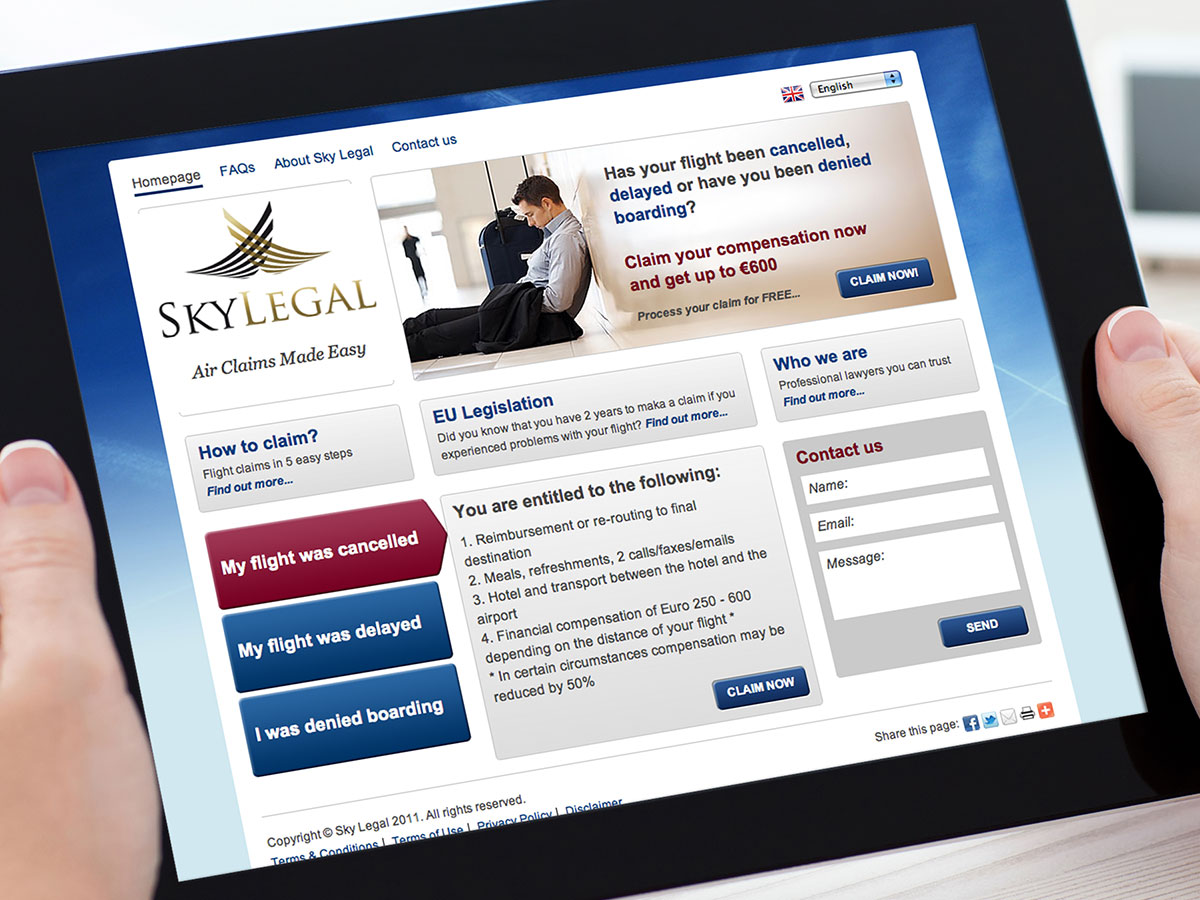 SkyLegal Website Design