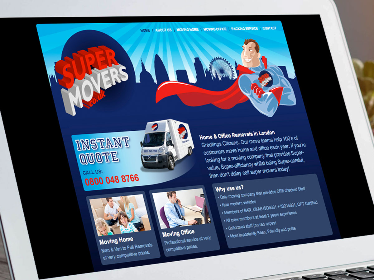 Super Movers Website Design