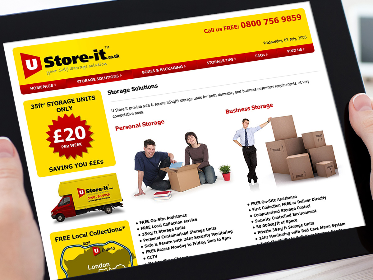U Store-it Website Design