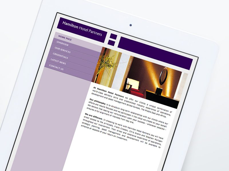 Hamilton Hotel Partners Website Design