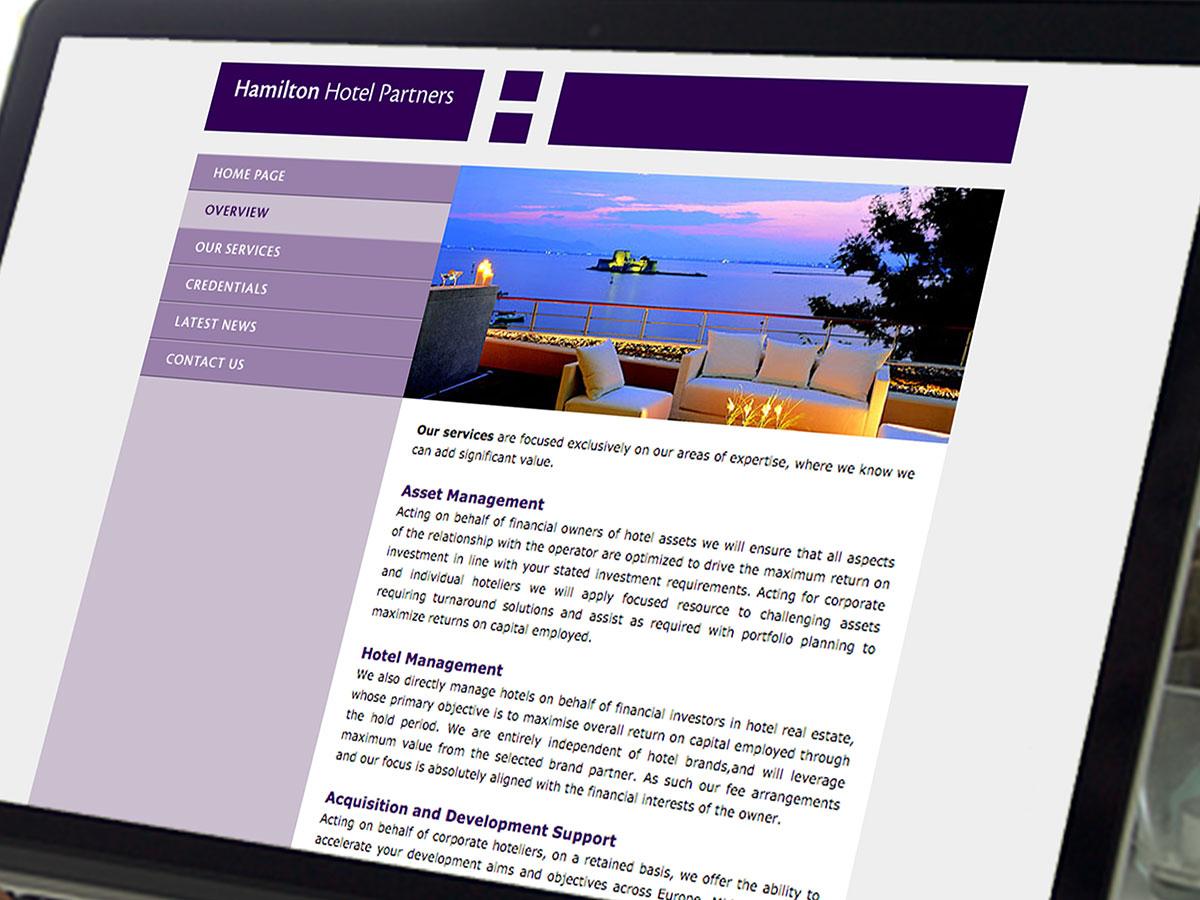 Hamilton Hotel Partners Website Design