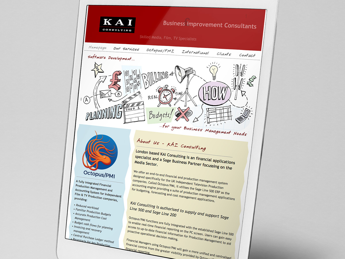 KAI Consulting Website Design