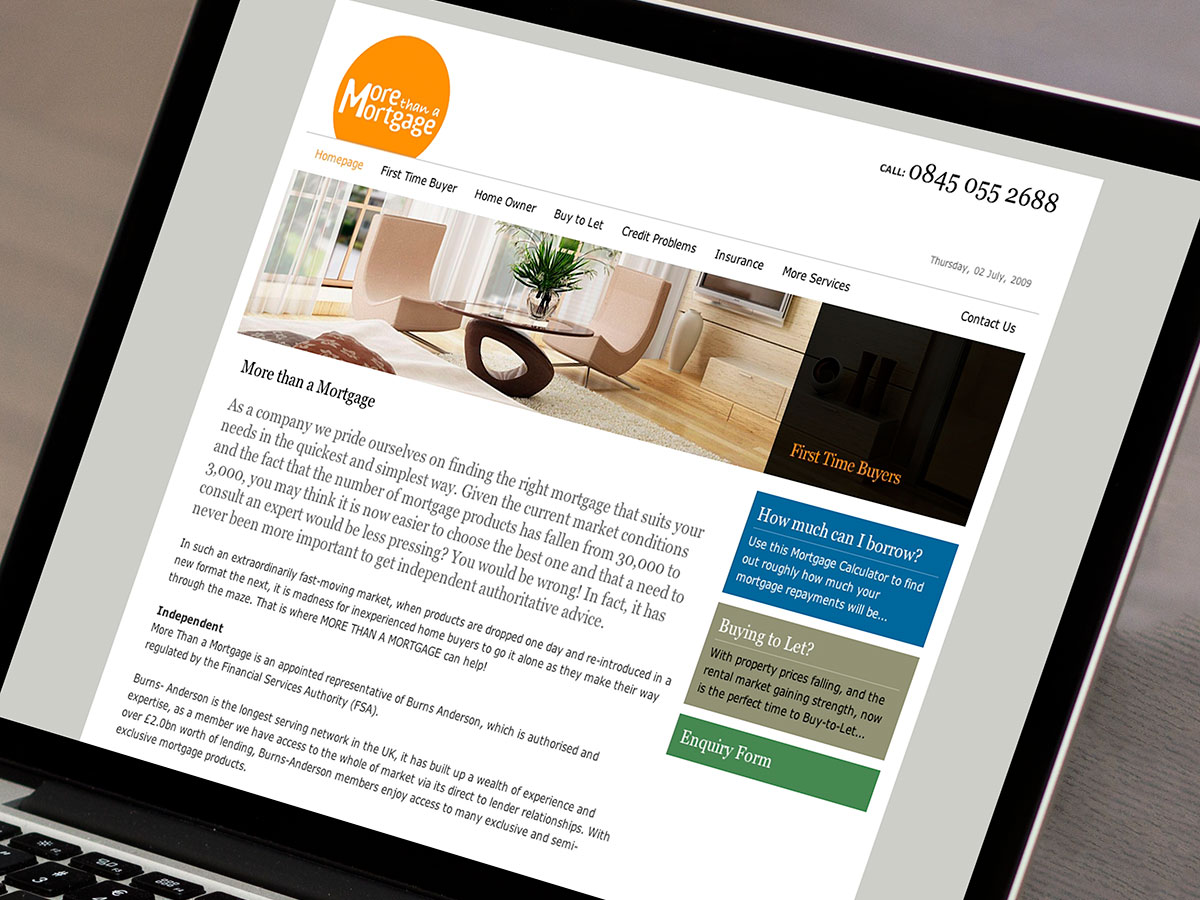 More Than A Mortgage Website Design