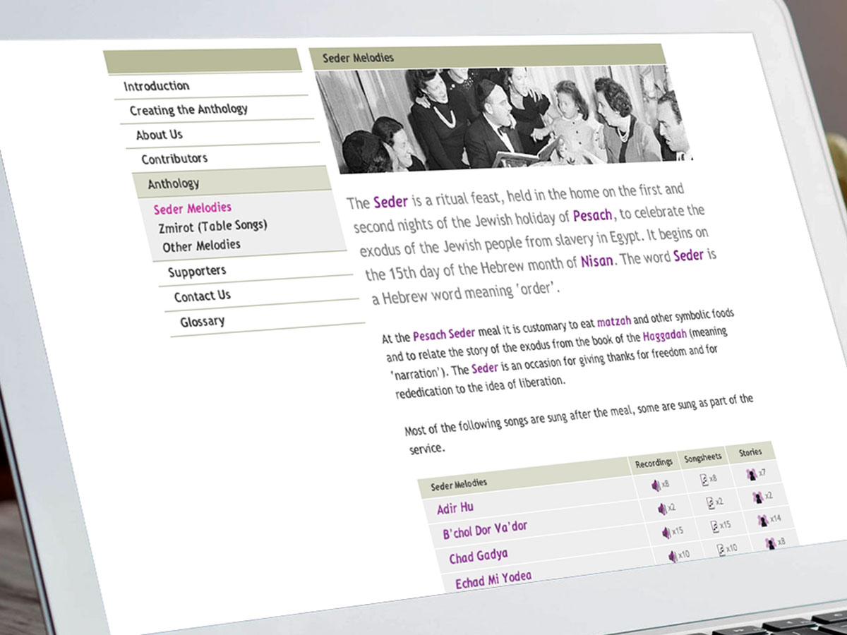 Reflectsion - Jewish Musical Journeys Website Design