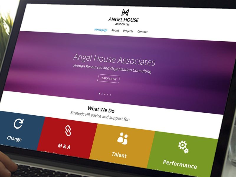 Angel House Associates Website Design