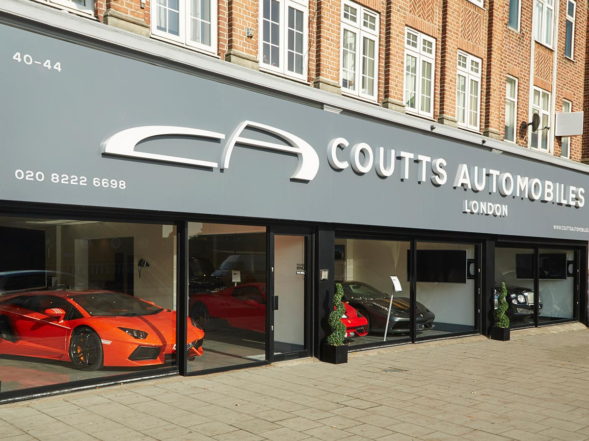 Coutts Automobiles Showroom Signage