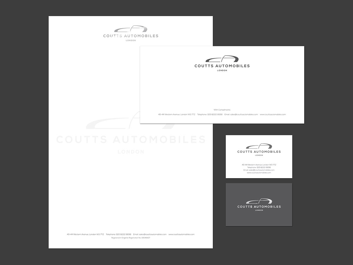 Coutts Automobiles Stationery