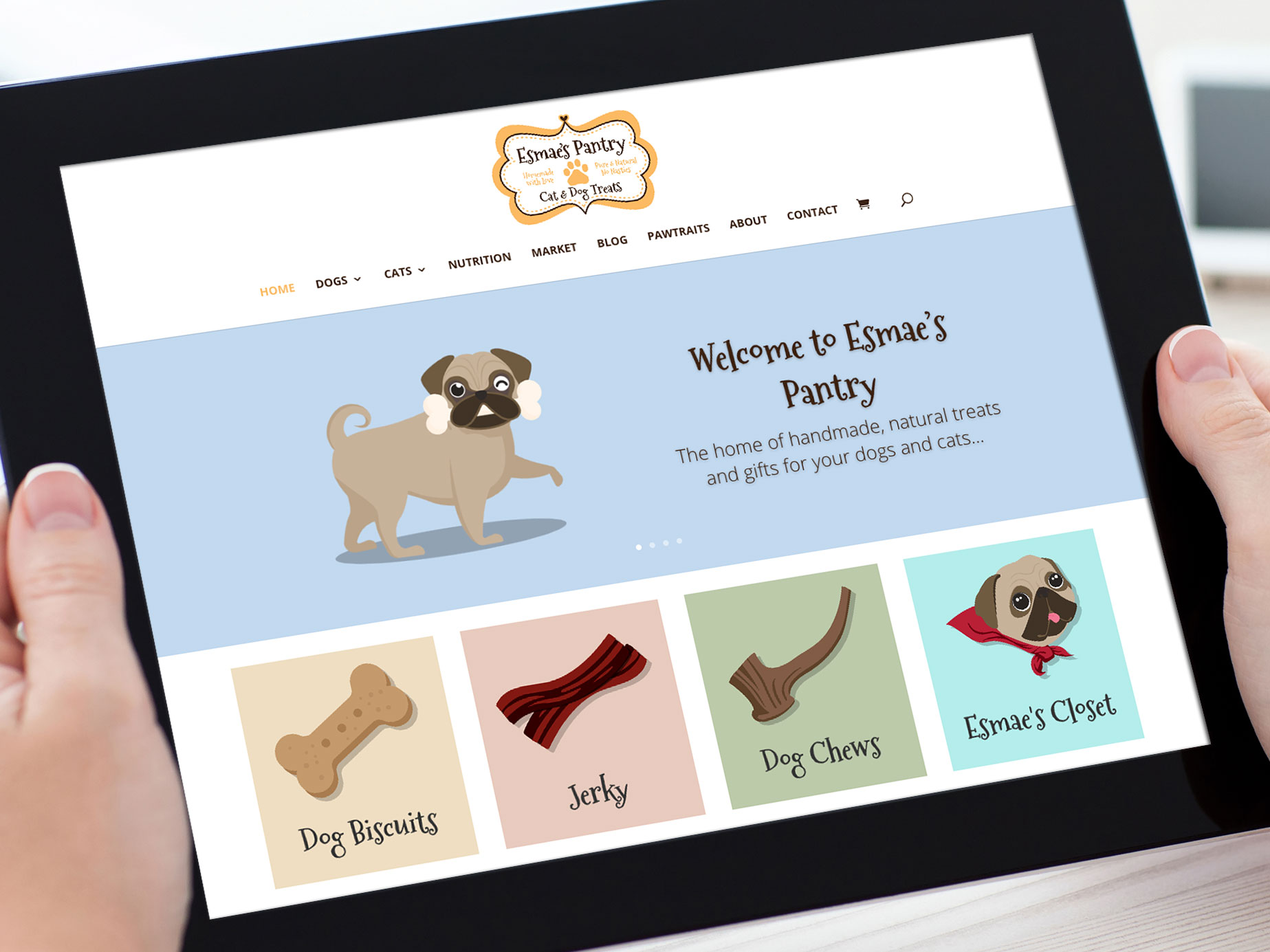 Esmaes Pantry Website Design