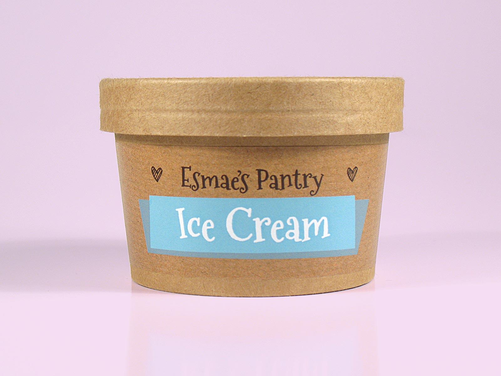 Esmae's Pantry Packaging Design Dog Ice Cream