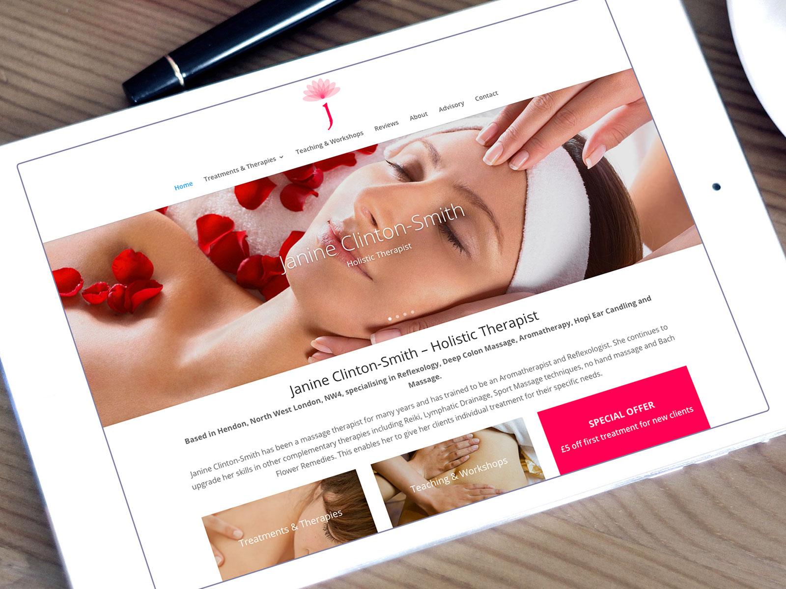 Janine Clinton-Smith Website Design