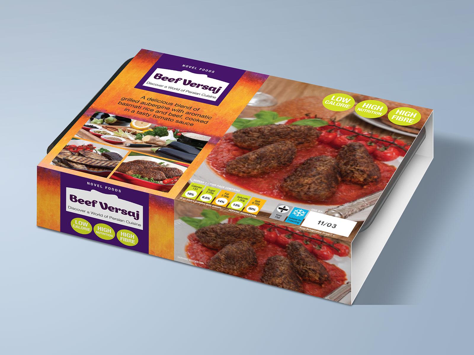 Novel Foods Beef Versaj Packaging Design