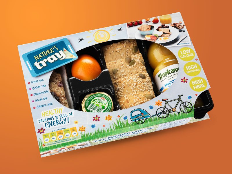 Novel Foods Natures Tray Packaging Design