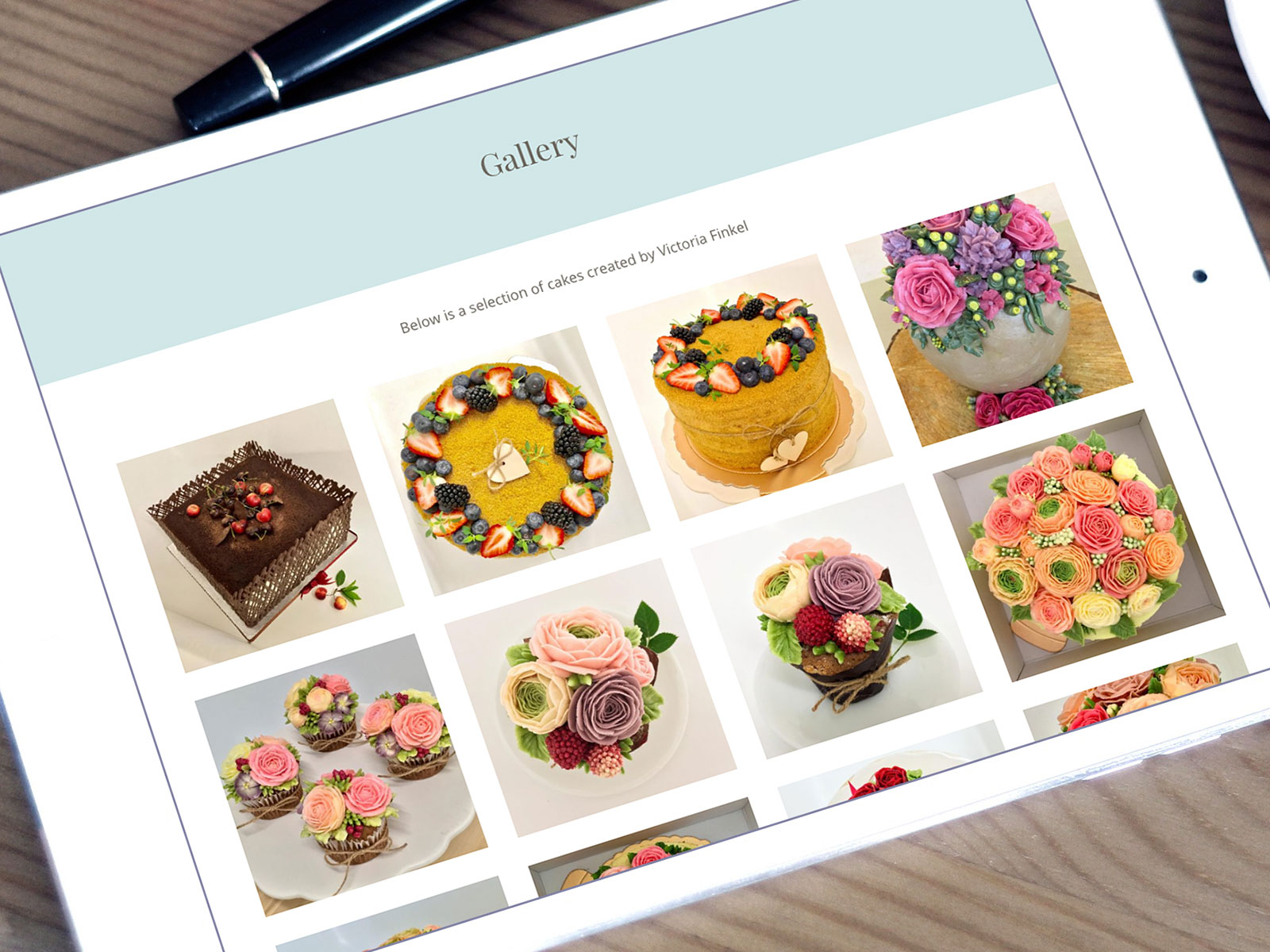 The Cake Studio Website Design