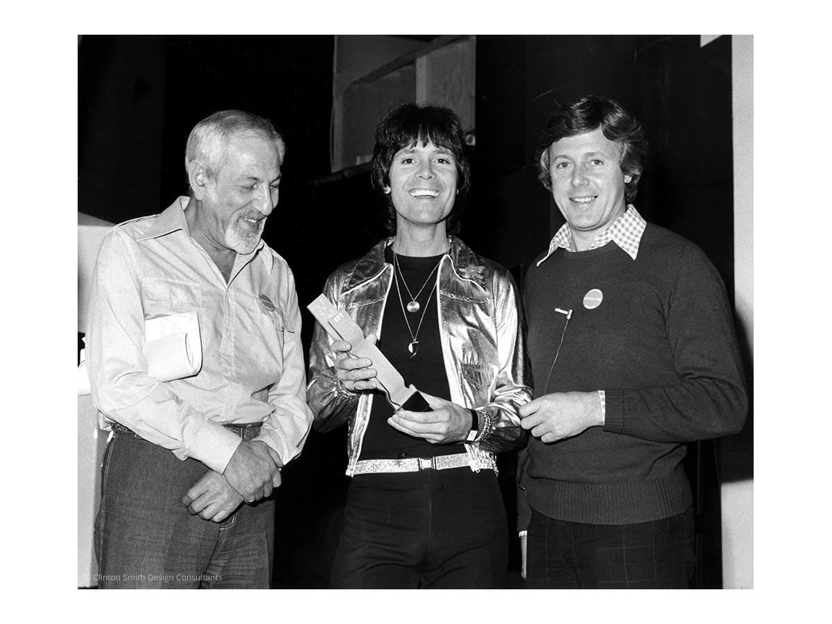 BPI BRIT Award 1977 - Cliff Richard and Michael Aspel