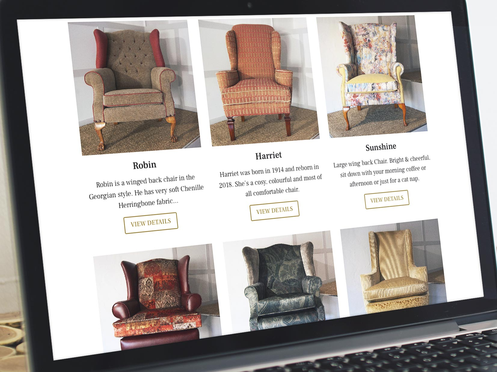 Vintage Chairs Reimagined Website Design