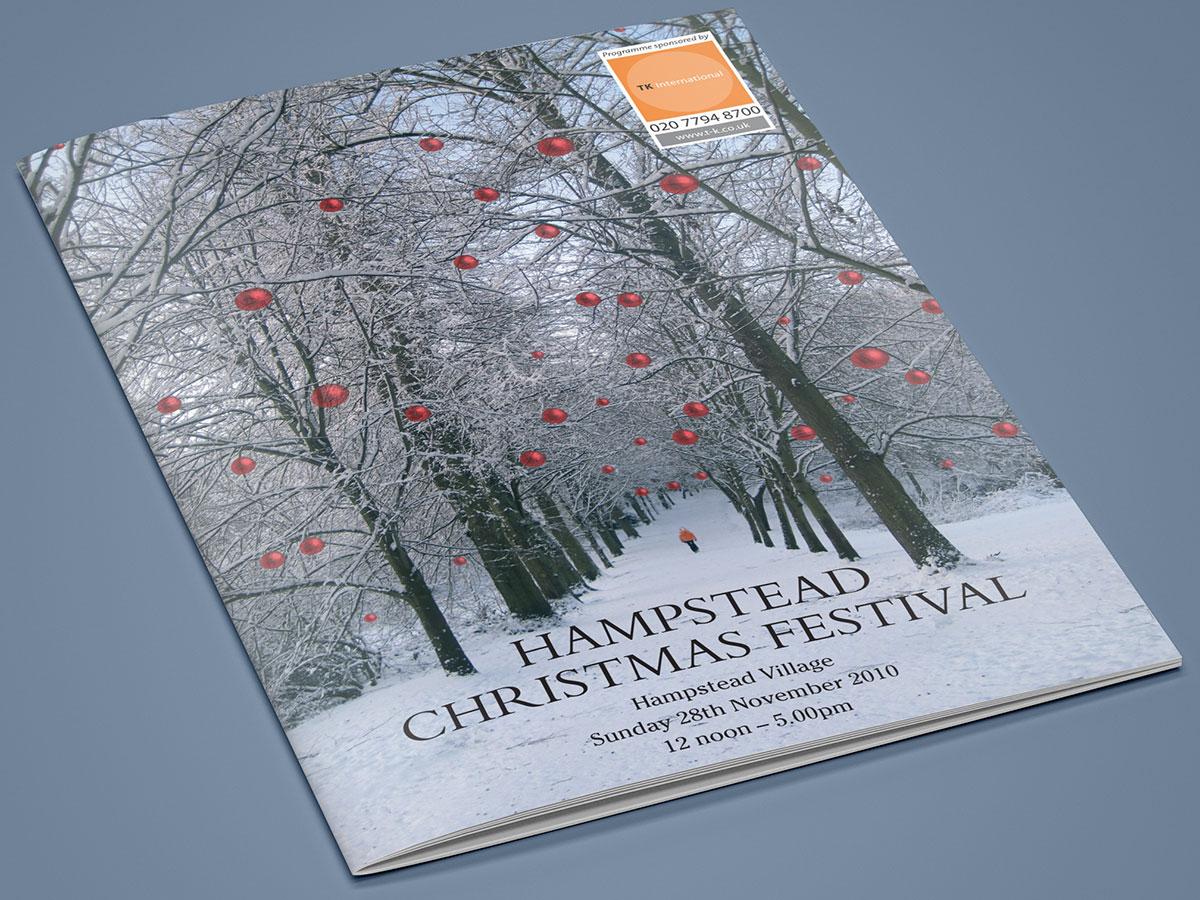 Hampstead Christmas Festival Brochure Design 2010