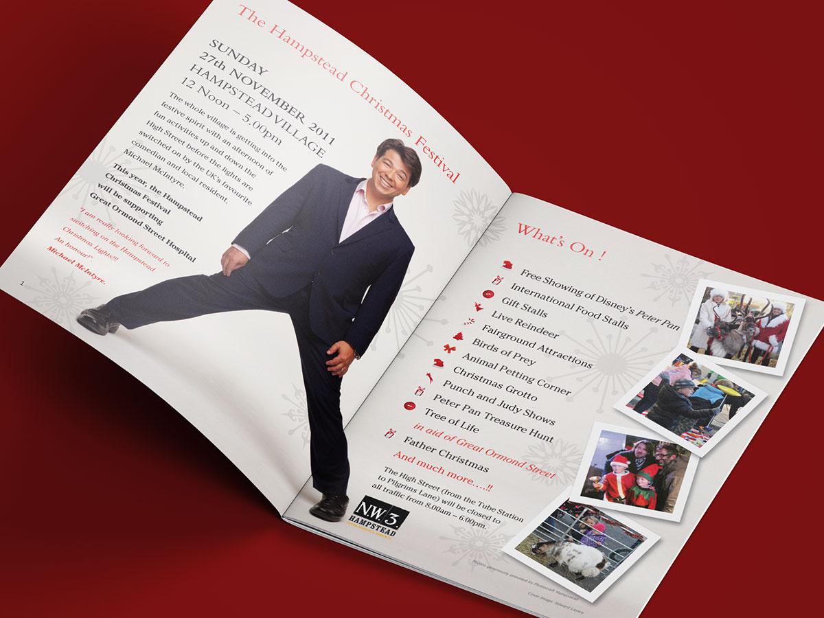 Hampstead Christmas Festival Brochure Design 2011