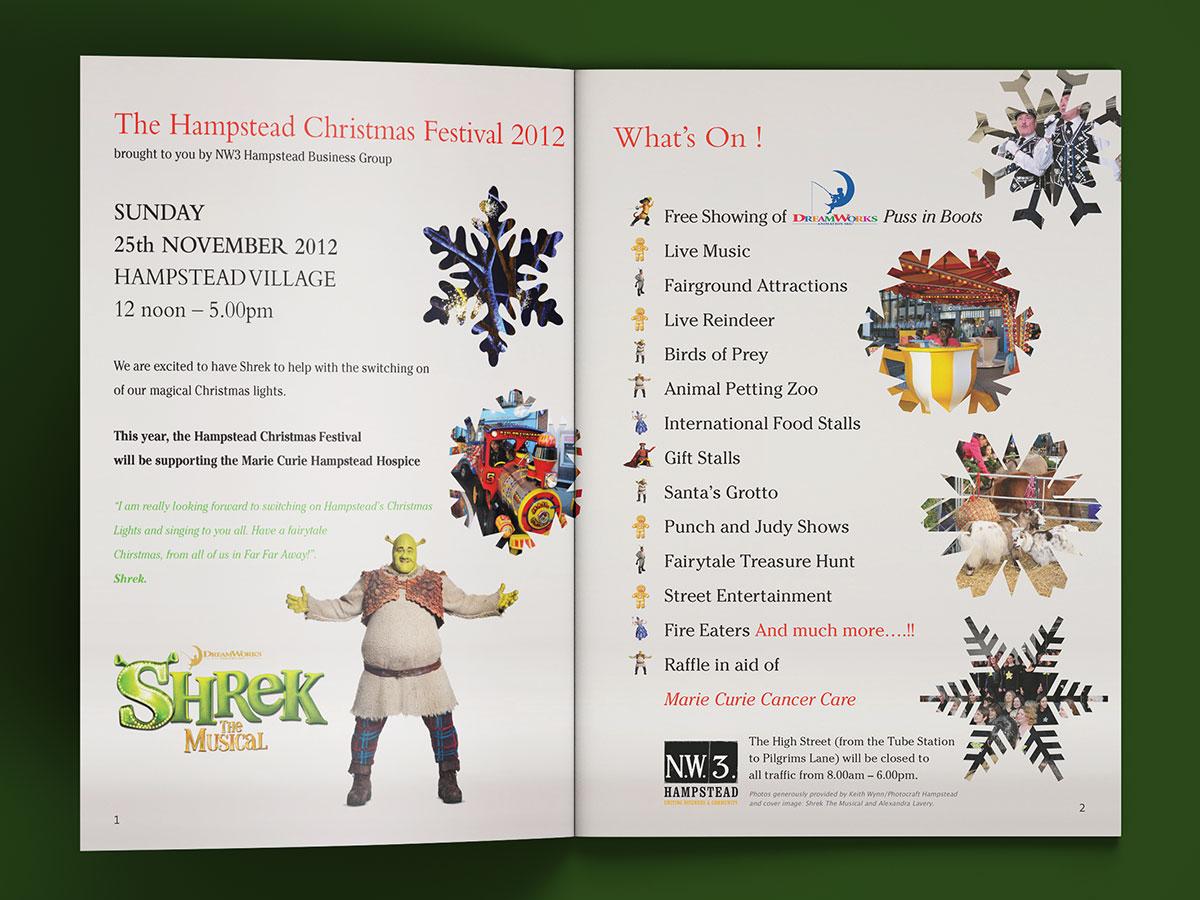 Hampstead Christmas Festival Brochure Design 2012