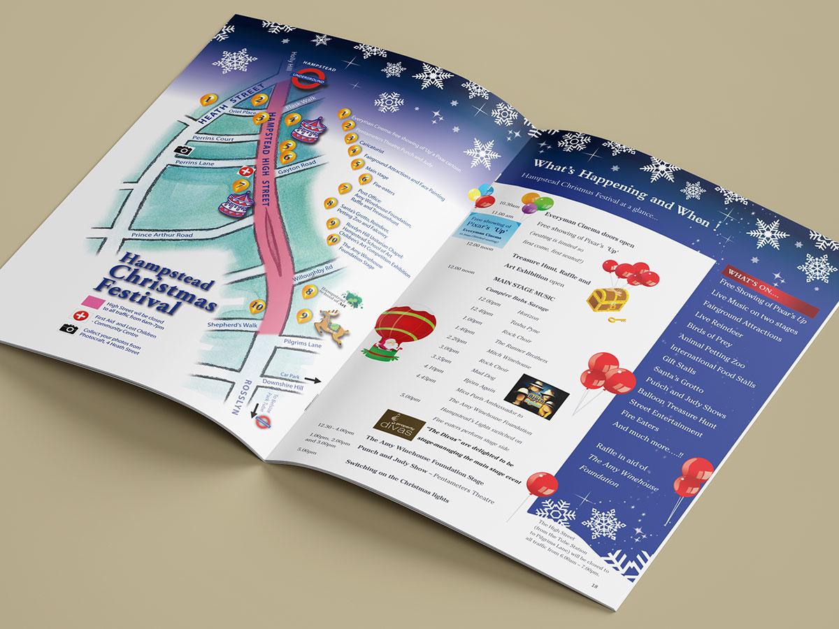 Hampstead Christmas Festival Brochure Design 2013