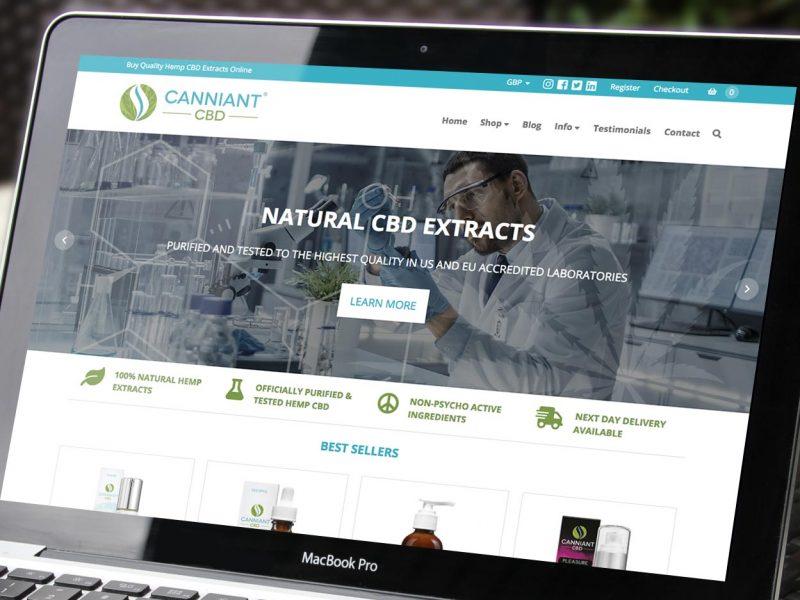 Canniant CBD Website Design