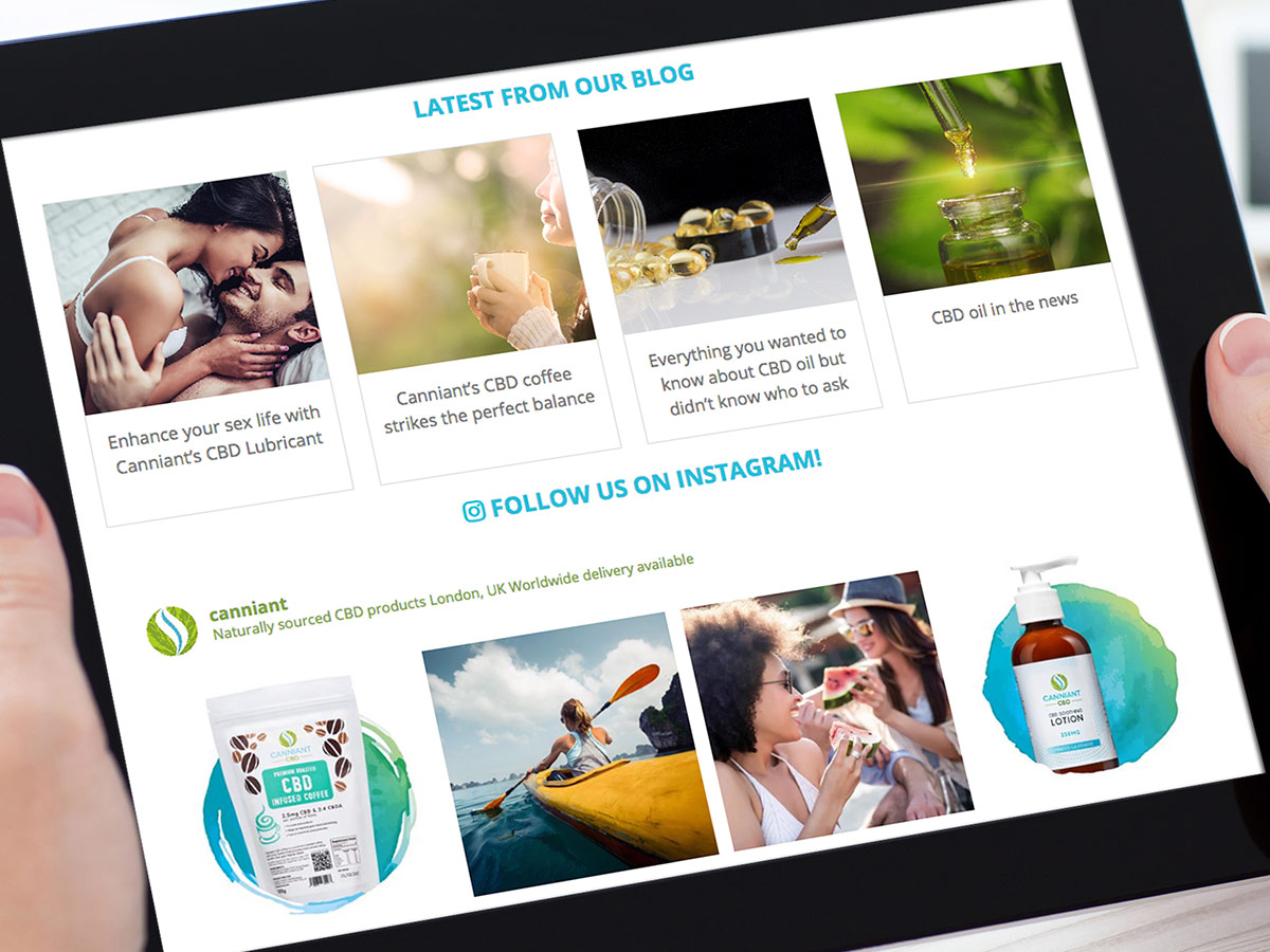 Canniant CBD Website Design