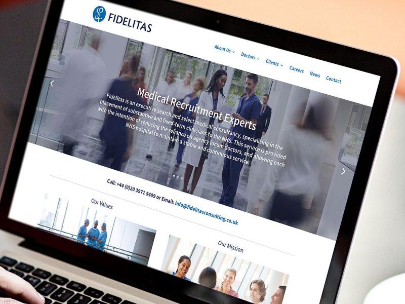 Fidelitas Consulting Website Design