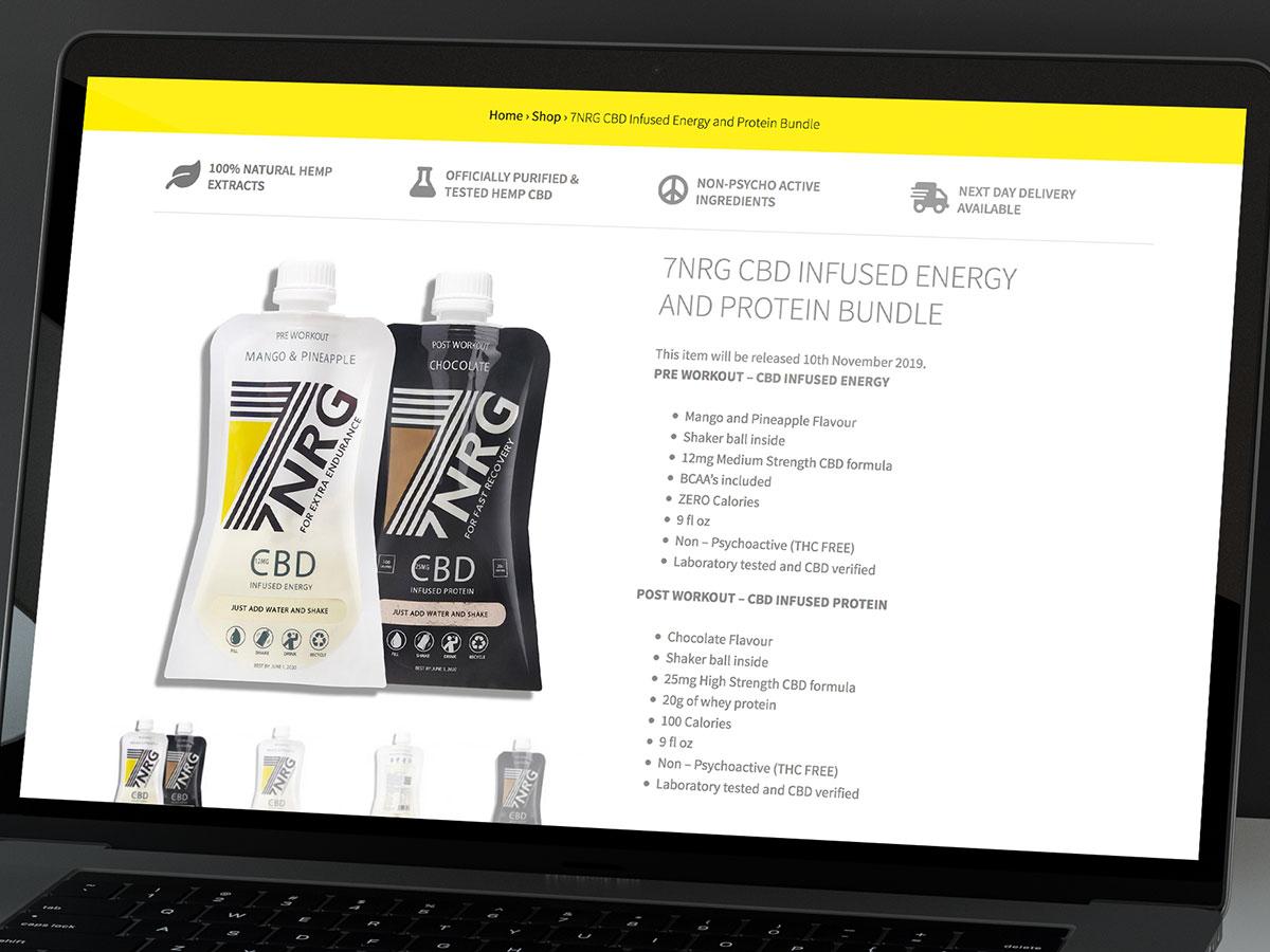 7NRG CBD Website Design
