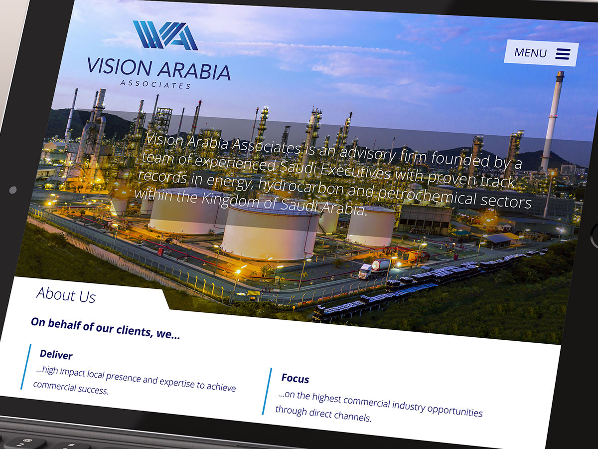 Vision Arabia Website Design