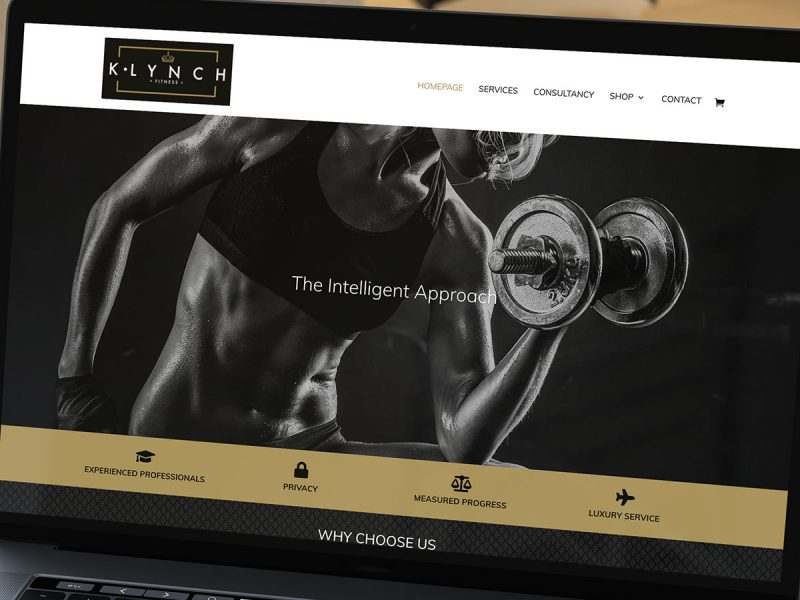 K Lynch Fitness Website Design