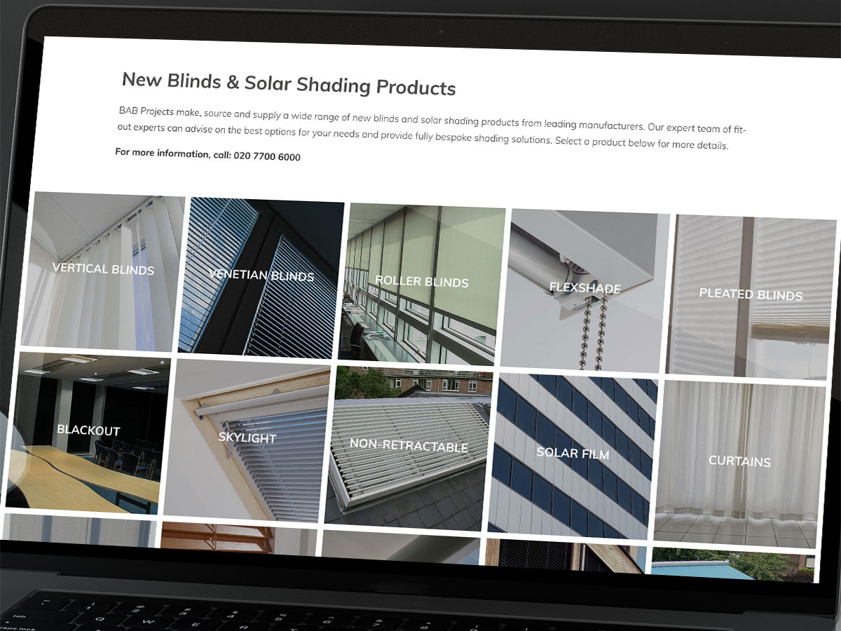 BAB Projects Website Design